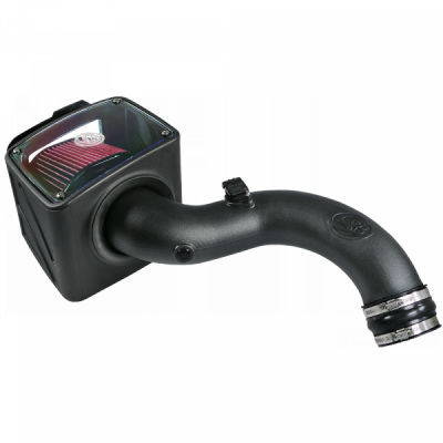 S&B Products - Cold Air Intake For 01-04 Chevrolet Silverado GMC Sierra V8-6.6L LB7 Duramax Cotton Cleanable Red S&B - Image 8
