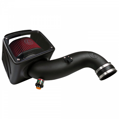 S&B Products - Cold Air Intake For 07-10 Chevrolet Silverado GMC Sierra V8-6.6L LMM Duramax Cotton Cleanable Red S&B