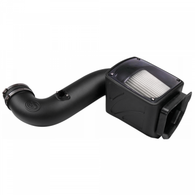 S&B Products - Cold Air Intake For 06-07 Chevrolet Silverado GMC Sierra V8-6.6L LLY-LBZ Duramax Dry Extendable White S&B - Image 3