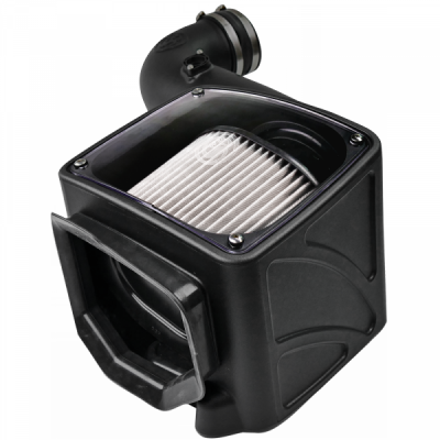 S&B Products - Cold Air Intake For 06-07 Chevrolet Silverado GMC Sierra V8-6.6L LLY-LBZ Duramax Dry Extendable White S&B - Image 4
