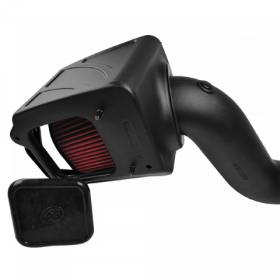 S&B Products - Cold Air Intake For 06-07 Chevrolet Silverado GMC Sierra V8-6.6L LLY-LBZ Duramax Cotton Cleanable Red S&B - Image 2