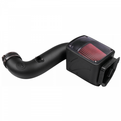 S&B Products - Cold Air Intake For 06-07 Chevrolet Silverado GMC Sierra V8-6.6L LLY-LBZ Duramax Cotton Cleanable Red S&B - Image 4