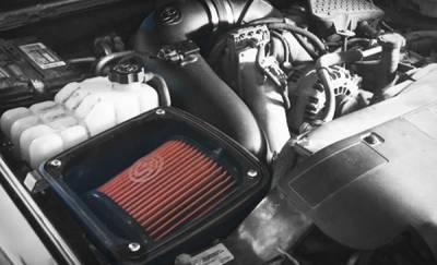 S&B Products - Cold Air Intake For 06-07 Chevrolet Silverado GMC Sierra V8-6.6L LLY-LBZ Duramax Cotton Cleanable Red S&B - Image 6