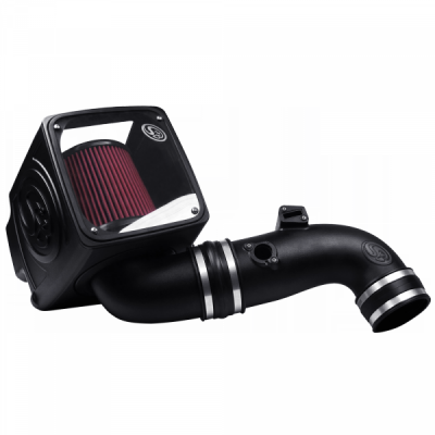 S&B Products - Cold Air Intake For 11-16 Chevrolet Silverado GMC Sierra V8-6.6L LML Duramax Cotton Cleanable Red S&B