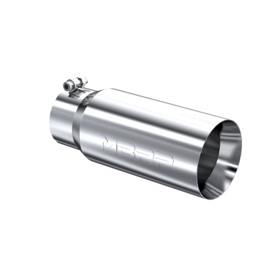Exhaust Tail Pipe Tip 5 Inch O.D. Dual Wall Straight 4 Inch Inlet 12 Inch Length T304 Stainless Steel MBRP