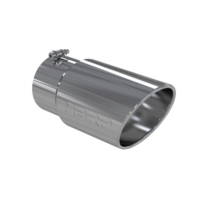 Exhaust Tip - 5 Inch Inlet - MBRP Exhaust - Exhaust Tail Pipe Tip 6 Inch O.D. Angled Rolled End 5 Inch Inlet 12 Inch Length T304 Stainless Steel MBRP