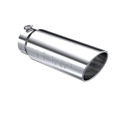Exhaust Tip - 5 Inch Inlet - MBRP Exhaust - Exhaust Tip 6 Inch O.D. Angled Rolled End 5 Inch Inlet 18 Inch Length T304 Stainless Steel MBRP