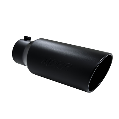 MBRP Exhaust - Exhaust Tip 7 Inch O.D. Rolled End 5 Inch Inlet 18 Inch Length Black Finish MBRP