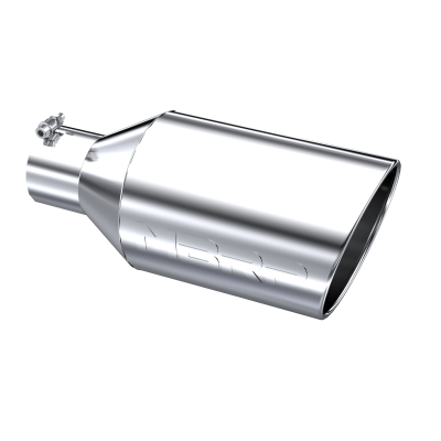 Exhaust Tip - 4 Inch Inlet - MBRP Exhaust - Exhaust Tip 8 Inch O.D. Rolled End 4 Inch Inlet 18 Inch Length T304 Stainless Steel MBRP