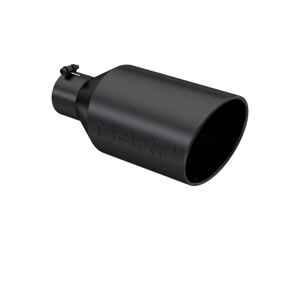 Exhaust Tip - 4 Inch Inlet - MBRP Exhaust - Exhaust Tip 8 Inch O.D. Rolled End 4 Inch Inlet 18 Inch Length Black Finish MBRP