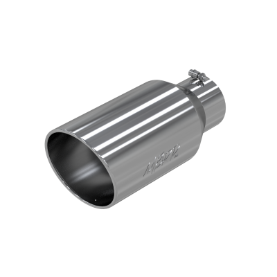 Exhaust Tip - 5 Inch Inlet - MBRP Exhaust - Exhaust Tip 8 Inch O.D. Rolled End 5 Inch Inlet 18 Inch Length T304 Stainless Steel MBRP