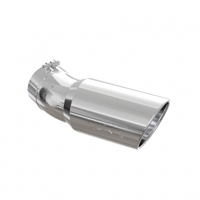 Exhaust Tip 6 Inch O.D. Angled Rolled End 5 Inch Inlet 15 1/2 Inch Length 30 Degree Bend T304 Stainless Steel MBRP