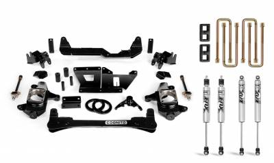 "Lift Kit - 3""-4"" Lift Kits - Cognito 4-Inch Standard Lift Kit With Fox PS 2.0 IFP Shocks for 01-10 Silverado/Sierra 2500 / 3500"