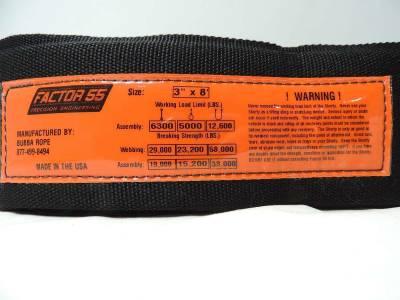 Factory 55 - Tree Saver Strap 8 Foot 3 Inch Black/Orange Factor 55 - Image 3