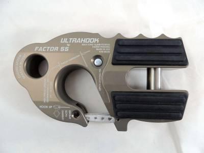 Factory 55 - UltraHook Winch Hook W/Shackle Mount Gray Factor 55 - Image 5