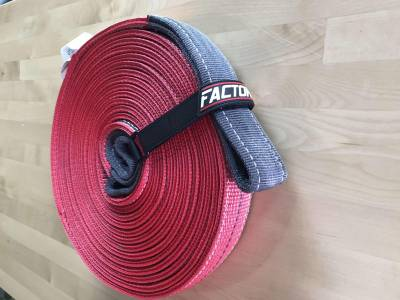 Winches and Accessories - Winch & Winching Accessories - Factory 55 - 30 Foot Tow Strap Standard Duty 30 Foot x 2 Inch Red Factor 55