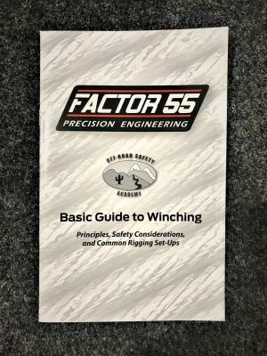 Winches and Accessories - Winch & Winching Accessories - Factory 55 - Basic Guide To Winching Manual Factor 55