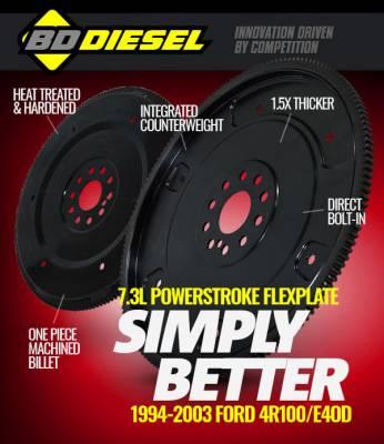 BD Diesel, 1041241_1994-2003 Ford 7.3L POWERSTROKE FLEXPLATE 4R100/E4OD